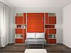Шкаф-кровать подъемная, встроенная в стенку, для спальни