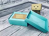 Подарочная Коробка для пластиковой карты сертификата  / 140х85х45 мм / Цвет: Бирюза, фото 5