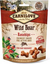 Лакомство для собак Carnilove Crunchy Snack Wild Boar with Rosehip (с диким кабаном и шиповником) 200 г