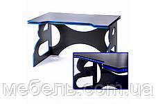 Компьютерный геймерский стол Barsky Homework Game Blue HG-04 с полкой HG-04 LED /ПК-01 1400*700, фото 2