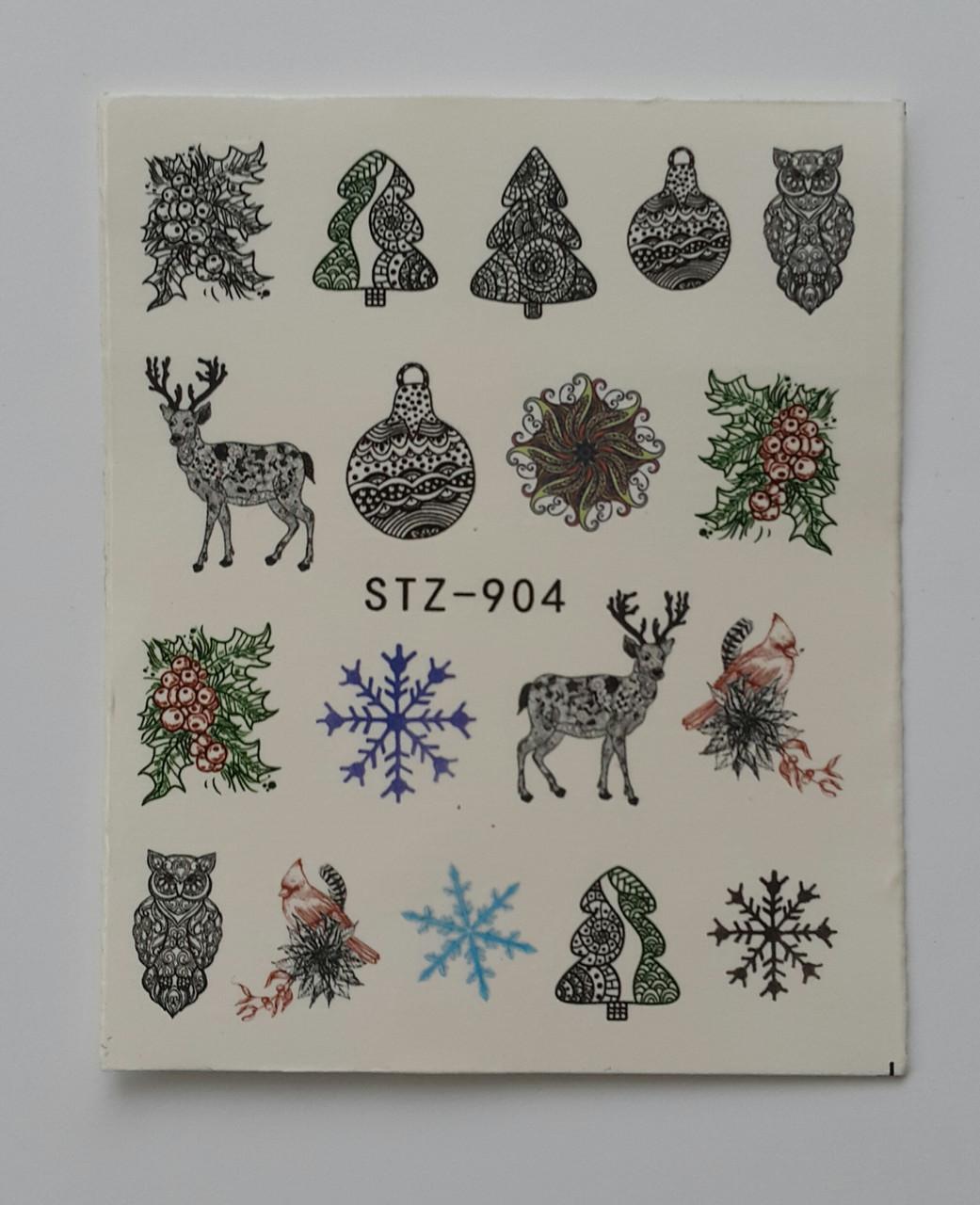 Наклейка для нігтів STZ-904