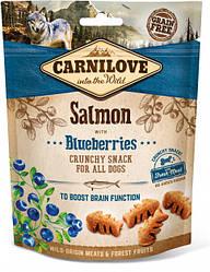 Лакомство для собак Carnilove Crunchy Snack Salmon with Blueberries (с лососем и черникой) 200 г
