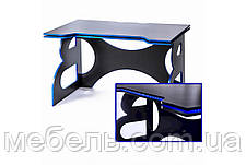 Компьютерный стол с тумбой Barsky Game Blue HG-04/LED/СUP-04/ПК-01, фото 2