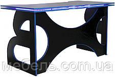 Компьютерный геймерский стол с тумбой Barsky Game Blue HG-04/LED/СUP-04/ПК-01, фото 3