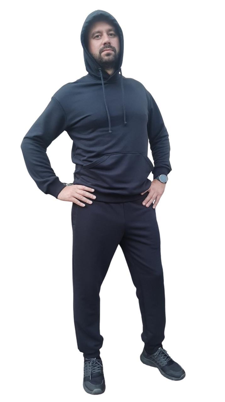 Костюм спортивный мужской с капюшоном (хлопок)