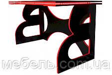 Компьютерный геймерский стол Barsky Homework Game Red HG-05 с полкой HG-05 LED /ПК-01 1400*700, фото 3