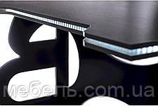 Компьютерный стол Barsky Homework Game White HG-06 с полкой HG-06 LED /ПК-01 1400*700, фото 2