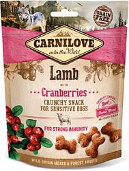 Лакомство для собак Carnilove Crunchy Snack Lamb with Cranberries (с ягненком и клюквой) 200 г