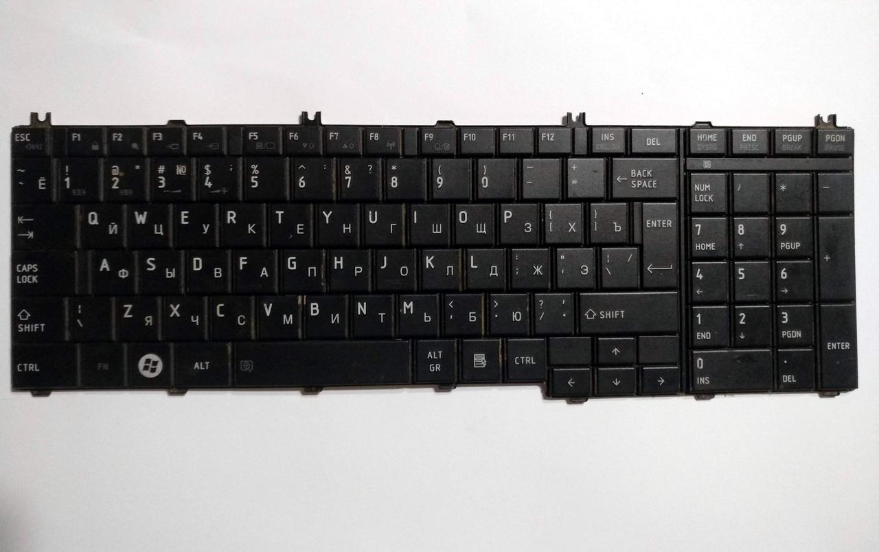 487 Клавиатура Toshiba C660 C660D C665 C670 C670D L650D L675 - NSK-TN0SC PK130CK3A11 - неисправная
