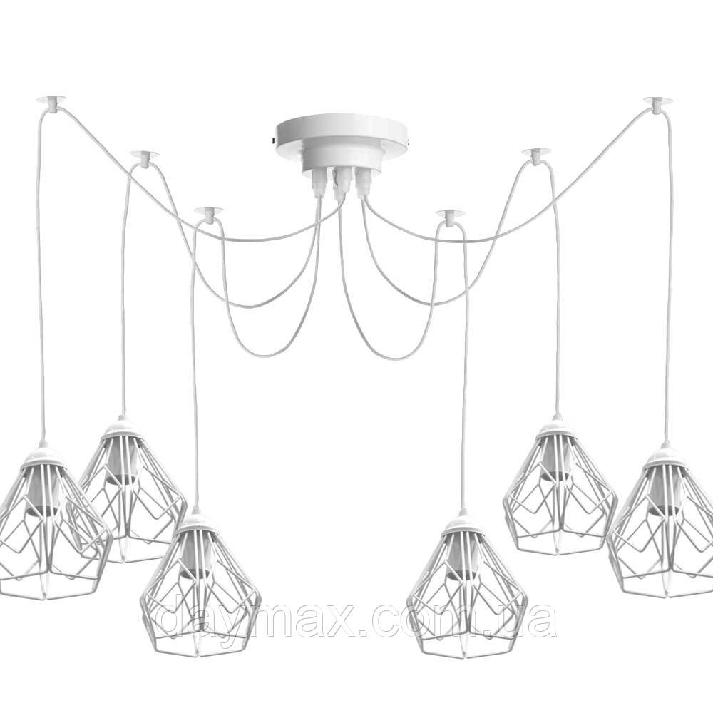 Люстра паук на восемь плафонов NL 538-8 W  MSK Electric