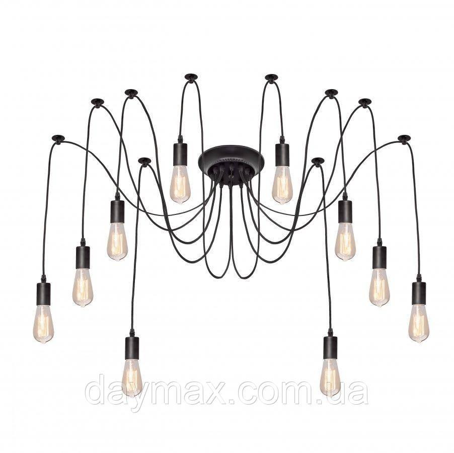 Люстра паук на десять ламп NL 149-10 MSK Electric