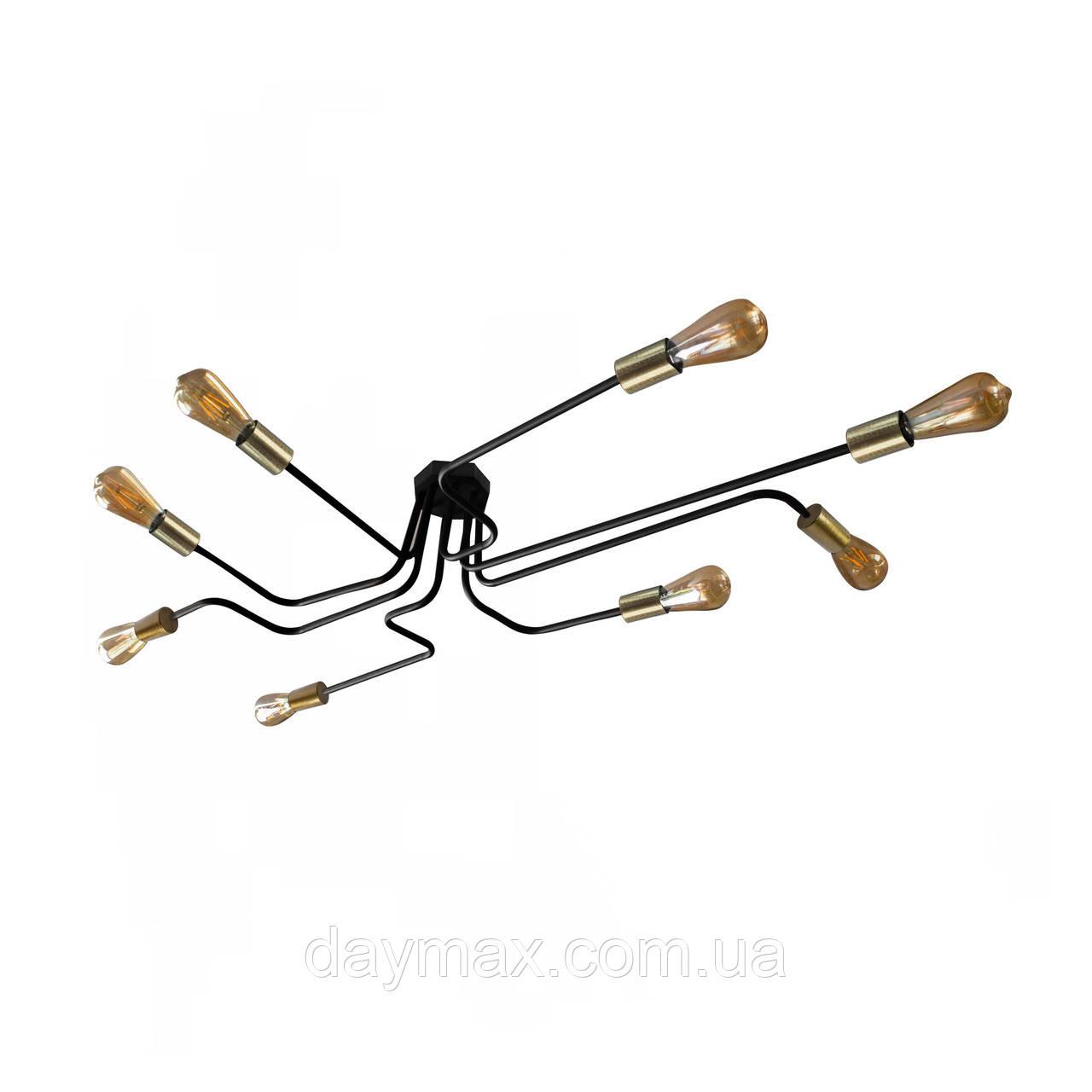 Люстра паук с бронзовыми патронами MSK Electric NL 13060/8 BK+BN  Микросхема