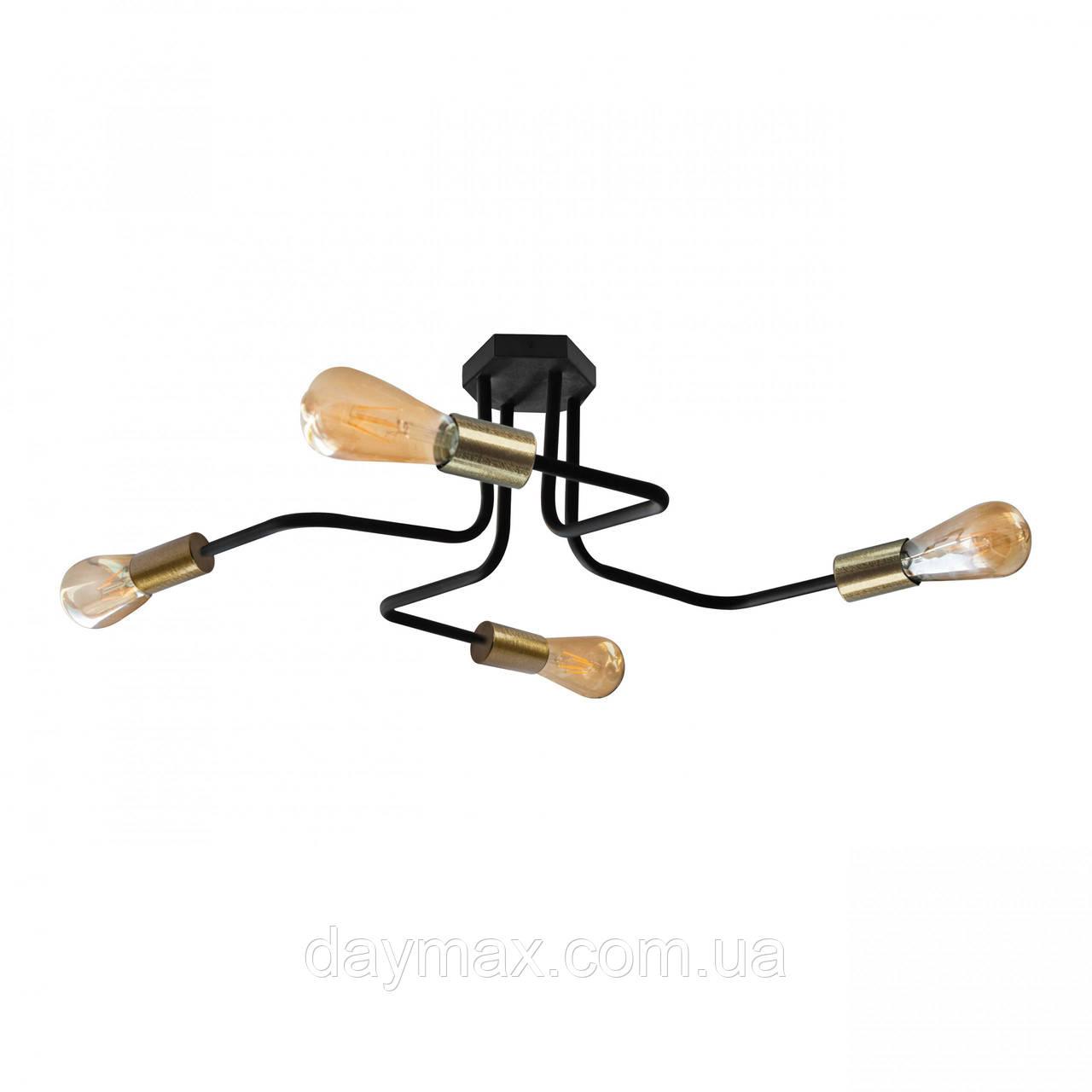 Люстра паук с бронзовыми патронами MSK Electric NL 5050/4 BK+BN