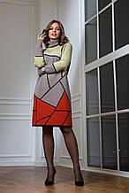 Жіноче тепле в'язана сукня «Лора» (чорний, оливка, капучіно, теракот)