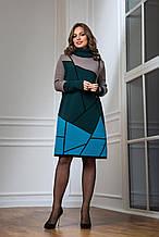 Жіноче тепле в'язана сукня «Лора» (чорний, капучіно, темний смарагд, бірюза)