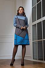 Жіноче тепле в'язана сукня «Лора» (чорний, аквамарин, темно-сірий, бірюза)