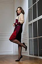 Жіноче тепле в'язана сукня «Лора» (чорний, беж, бордо, вишня)