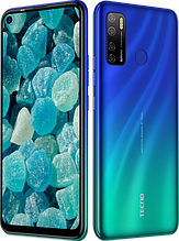 """Смартфон Tecno Spark 5 Pro 4/128Gb с большим экраном 6,6"""" с мощной батареей и тройной камерой синий"""