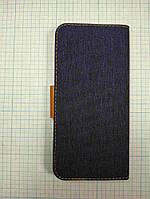 """Чохол-книжка універсальна Goospery Canvas Diary 5.5"""" Синій, фото 1"""