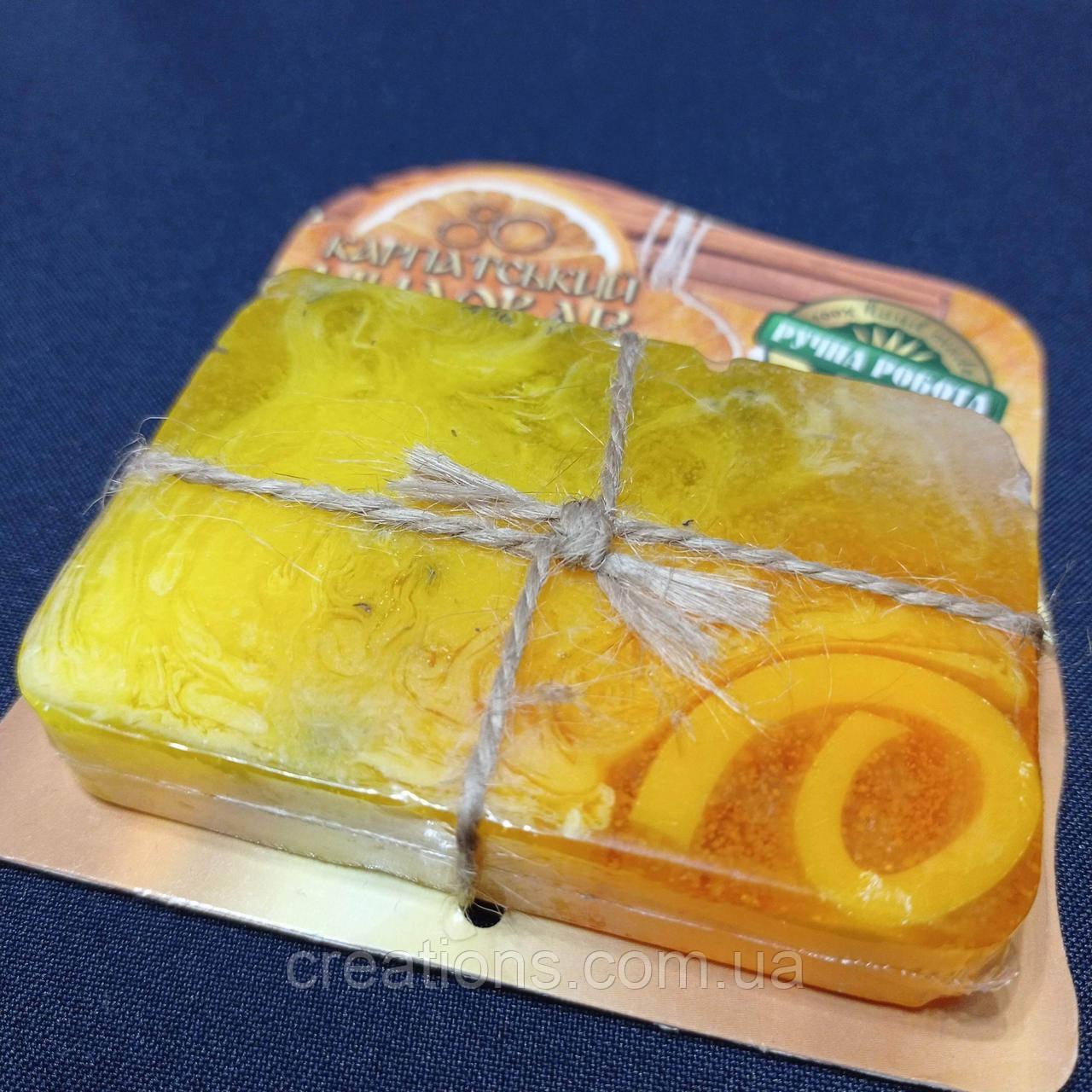 """Натуральное мыло """"Апельсин и корица"""", ручной работы"""