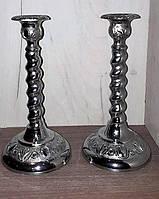 Посеребрянные подсвечники на одну свечу, винтаж, Англия