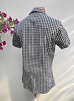 Чоловіча сорочка в клітку HsM Розмір S (Я-95), фото 2
