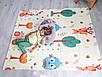 Вспененный детский развивающий коврик Children GO 180* 150 , двусторонний, с рисунками и текстурным покрытием, фото 7