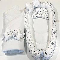 Кокон-гнездышко с одеяльцем для новорожденных (Двухсторонний)