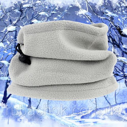 Теплый флисовый шарф-труба бафф 3 в 1