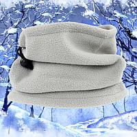 Теплый флисовый шарф-труба бафф 3 в 1, фото 1