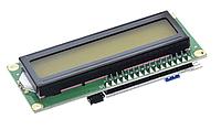 LCD1602 ЖК 16х2 модуль с припаянным i2c модулем - зеленый дисплей, фото 1