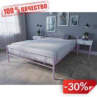 Кровать MELBI Лара Люкс Двуспальная 140х190 см Розовый