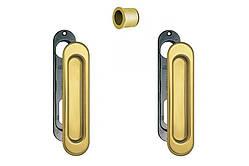 Ручки для раздвижных дверей AGB Scivola, золото (латунь)