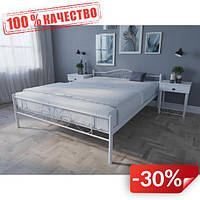 Кровать MELBI Лара Люкс Двуспальная 180х190 см Белый