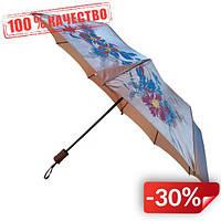 Женский зонт полуавтомат Max на 10 спиц с цветочным узором Светло-розовый (2018-3)