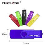 USB OTG флешка Nuiflash 32 Gb micro USB Цвет Жёлтый ОТГ для телефона и компьютера, фото 5