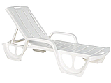 Шезлонг - лежак Allibert by Keter Florida Sunlounger ( Curver ) White ( белый ), фото 9