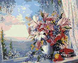 Картина по номерам GX4562 Лилии на окне, 40х50 см., Rainbow Art