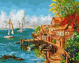 Картина по номерам GX8964 Рыбацкий причал, 40х50 см., Rainbow Art