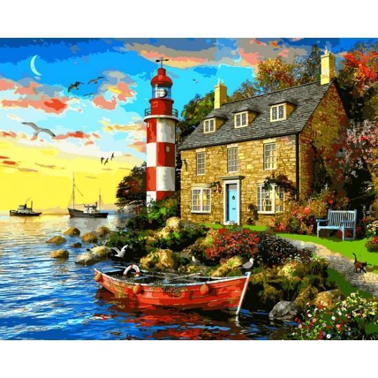 Картина по номерам VP1277 Дом смотрителя маяка VP1277, Babylon, 40x50 см.