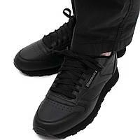 """Оригинальные мужские кроссовки Reebok Classic Leather """"Black"""" (2267), фото 1"""