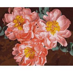 Картина по номерам КНО3110 Пионовое вдохновение, 40x50 см., Идейка