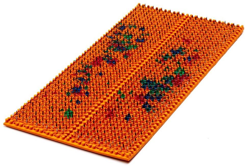 Аплікатор Ляпко 5,8 Ag Шанс розмір 118 х 235 мм голчастий масажний килимок для спини, рук, ніг Помаранчевий