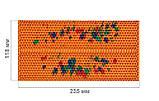 Аплікатор Ляпко 5,8 Ag Шанс розмір 118 х 235 мм голчастий масажний килимок для спини, рук, ніг Помаранчевий, фото 2