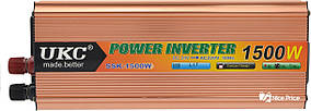 Перетворювач напруги(інвертор) 24-220V 1500W + USB (4002)