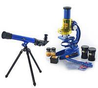 Дитячий набір 2 в 1 Телескоп + Мікроскоп SK0014, найкращий подарунок маленького дослідника, фото 1