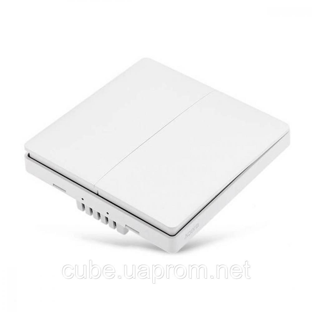 Розумний вимикач 2 кнопки Aqara Smart Light Switch Live Double Button ZigBee Version (QBKG03LM/AK014CNW01)