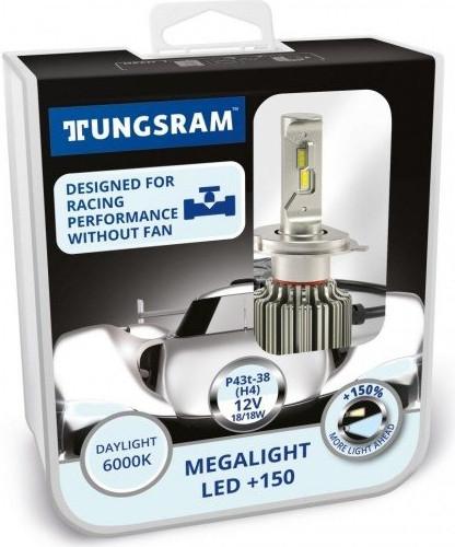 Лампы светодиодные Tungsram Megalight LED +200 12V H4 24W 6000K