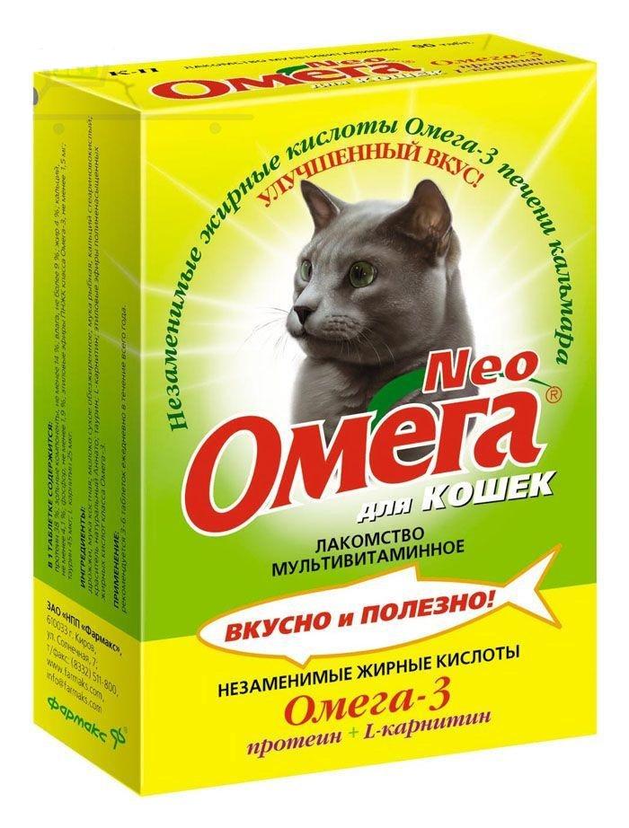 Витамины Омега Нео Протеин для кошек, 90 табл.