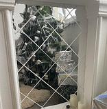 Акрилове дзеркало 15×15 см × 0.2 мм срібло 1 шт, фото 7